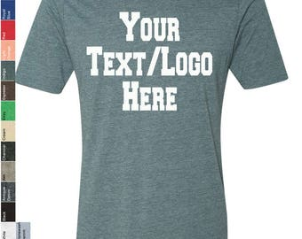 Personalized Next Level Poly/Cotton T-Shirt 6200 Custom Made T-Shirt with Vinyl or Glitter Print