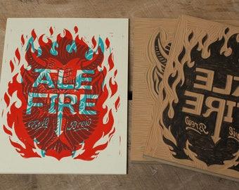 Ale Fire - Block Print