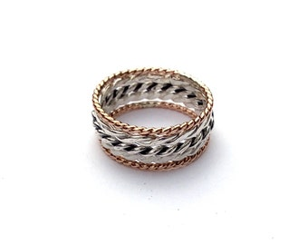 Braided Beauty - stacking rings, silver rings, sterling silver rings, minimalist, bridesmaid gifts, Christmas gifts, gifts, rose gold