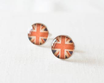 SALE -50% OFF. Union Jack Cufflinks. British Flag Cuff Links for Men.
