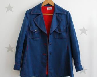Vintage female jeans jacket, vintage jeans coat, vintage navu style jeans coat