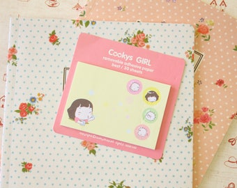 01 Cookys Girl cartoon Sticky Notes