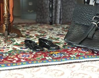 Miniature Black Dress Shoes, Mens Shoes, Dollhouse Miniature, 1:12 Scale, Mini Black Man Shoe, Dollhouse Accessory, Decor, Embellishment