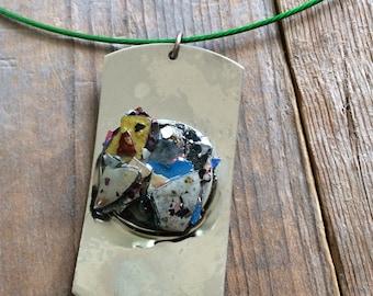 Graffiti fleck necklace