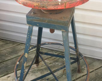 Old industrial Shop Stool
