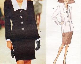 Sz 18/20/22 - Vogue Dress Pattern 1298 by GIVENCHY - Misses' Top and Skirt - Vogue Paris Original - UNCUT