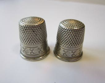 vintage Simon Brothers thimble - nickel silver - SBC thimble - your choice size 9 or 10