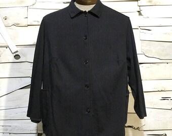 Vintage European Button Up Chore Coat - Large