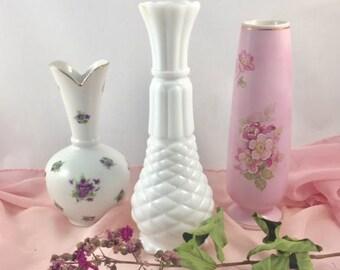 Vases, Vases For Centerpieces, Vases For Weddings, Vintage Vase, Bud Vase  Lot