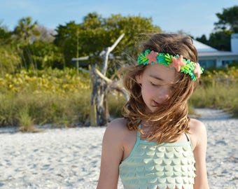 Mermaid Crown, Mermaid Party, Dress Up, Pretend Play, Under the Sea, Felt Toys, Girls Headband, Halloween Costume, Flower Crown