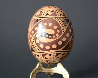 Trypillian Pysanka Ukrainian Easter egg unique gift for all occasions something unique unexpected for dad small art object very inexpensive