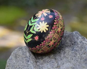 Ukrainian Pysanka egg in traditional colors