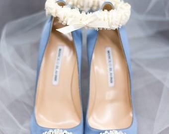 Lace Garter Wedding Bridal Off White