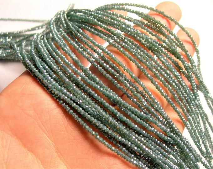 Crystal - rondelle  faceted 1mm x  2mm beads - 194 beads - blue - full strand - VSC15