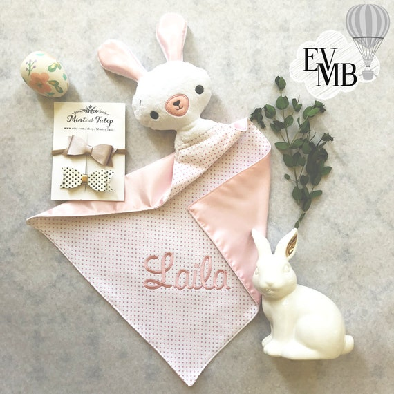 Personalized Easter Bunny Blanket