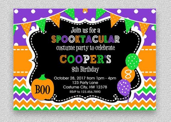 Halloween birthday invitation kids halloween party invitation il570xn solutioingenieria Choice Image