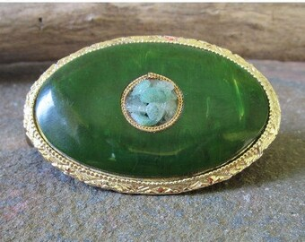 On Sale Vintage Compact/ lipstick Deadstock SCHILDKRAUT Lipstick Holder with Attached Compact Mirror-