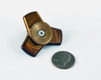 TFD Spinner No. 8 - Flame Anodized Frame & Caps, Ceramic Bearing, Anodized Stainless Steel Spinner - Metal Spinner