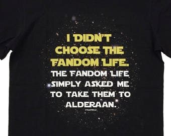 Star Geek Wars T-Shirt Choose Fandom Life
