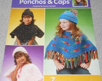4 Hour Ponchos & Caps Crochet Pattern Leaflet by Annie's Attic