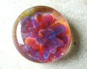 Fuchsia - Lampwork Cabochon - Boro Glass Implosion - 17mm - SRA