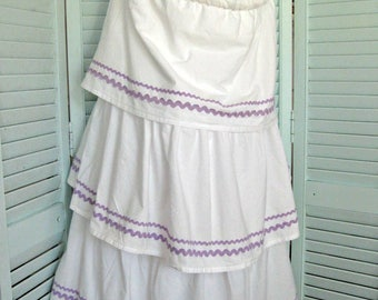 Hanging Hoop Laundry/Storage/Toy Bag- Upcycled Pottery Barn Bedskirt