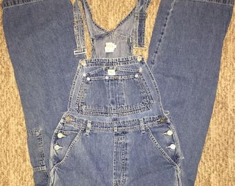 Vintage Calvin Klein Women's Jean Overalls Size S High Waisted 100% Cotton