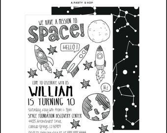 Spaceship Invitation