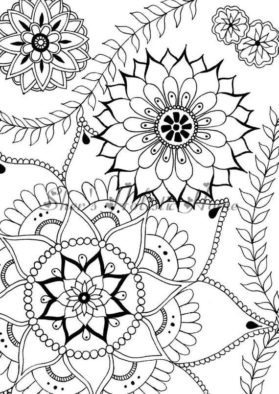 Fleur coloriage mandala fleur dessin de fleurs coloriage - Mandala fleur ...