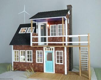 Baxter Pointe Villa - OOAK modern miniature dollhouse