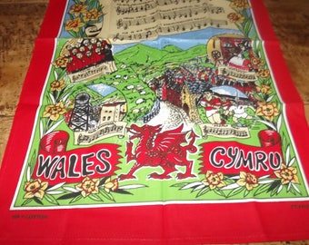 Tea Towel Hen Wlad Fy Nhadau Land of my Fathers  - Cotton