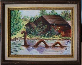 Nessie Altered Landscape. Original painting.