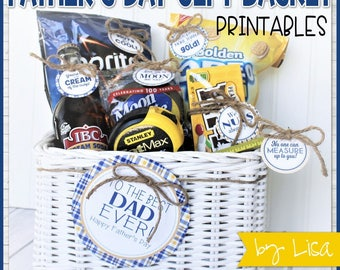 Father's Day Gift Tags, Father's Day Gift Basket Printables, Gifts for Dad, Gift Tag Printables - Printable INSTANT Download by Lisa