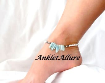 Anklet Stone Ankle Bracelet Beach Proof Anklet GUARANTEED Anklet for Women