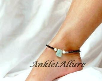 Anklet Black Beach Ankle Bracelet Pearl Anklet Amazonite Cruise Anklet GUARANTEED Anklet for Women