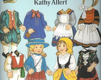 Vintage French Folk Costumes by Kathy Allert Paper Dolls, C1991
