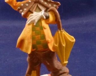 Vintage Black Americana Clown Figurine, 1950s