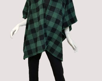 Green Buffalo Checkered Wrap (one size fits most)