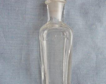 Antique Art Nouveau Glass Scent Perfume Bottle