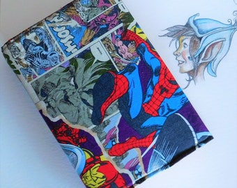 Summer Bible Book Cover, Big Book Cover - AA Super hero fabric, Cloth Recovery Book Covers Drug free gift idea