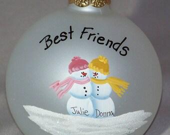 Personalized ornament celebrating Friendship