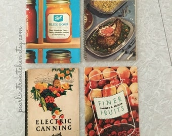 Retro Canning Cookbooks Mini Collection