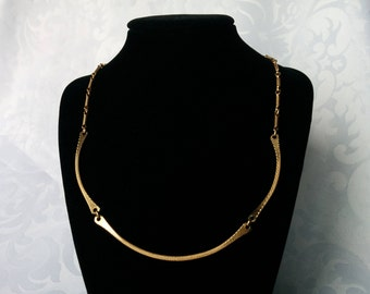 Sarah Coventry Necklace, Gold Tone Necklace, Gold Chain, Sarah Coventry