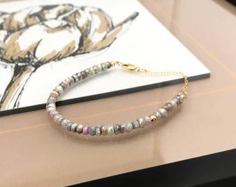 Gold Mixed Sapphire Bracelet