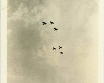 "Vintage Photo ""Wings of Formation"" Snapshot Antique Black & White Photograph Found Paper Ephemera Vernacular Interior Design Mood - 106"