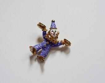 1960s | Vintage Clown Enamel Pin