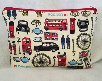 I love London Large zipper cosmetic/accessory Pouch