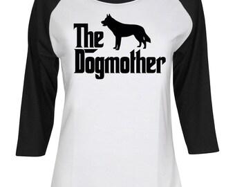 The Dogmother Siberian Husky - Mother of Siberian Husky - Siberian Husky Shirt - Dog Mom - Women 3/4 Sleeve Baseball Shirt #IZWBSUB199