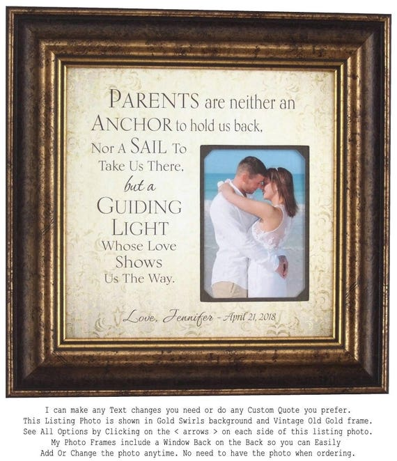 Gift for Parents, Father of The Bride Gift from daughter, Parents of ...