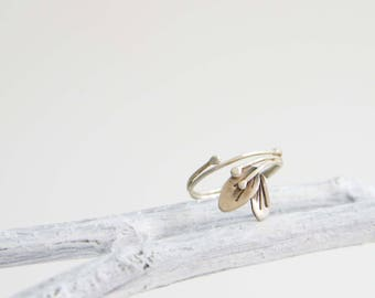 Woodland Silver Ring     |     Size 5